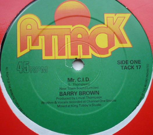Barry Brown Mr. C.I.D. Vinyl