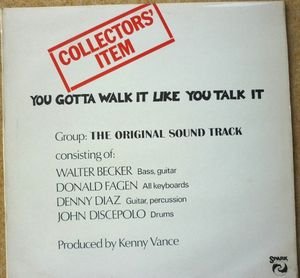 You Gotta Walk It Like You Talk It The Original Sound Track Vinyl
