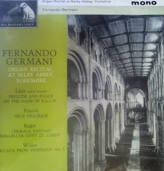 Germani, Fernando Organ Recital at Selby Abbey, Yorkshire Vinyl
