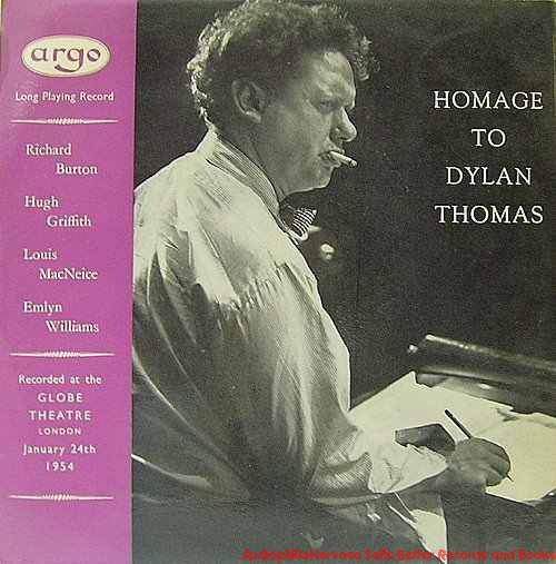 More Images  Dylan Thomas, Various Homage To Dylan Thomas  Vinyl
