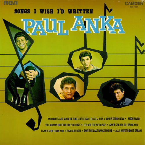 Anka, Paul Songs I Wish I'd Written Vinyl