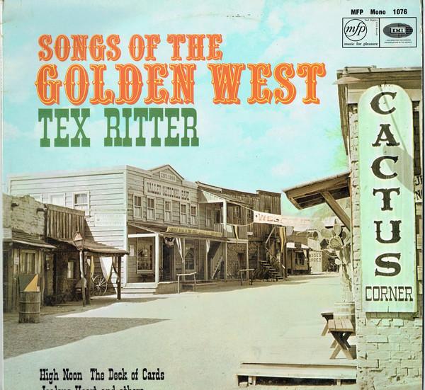 Ritter Tex Songs Of The Golden West Vinyl