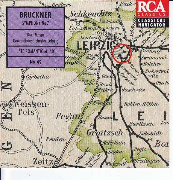 Bruckner, Kurt Masur, Gewandhausorchester Leipzig Symphony No 7 Vinyl