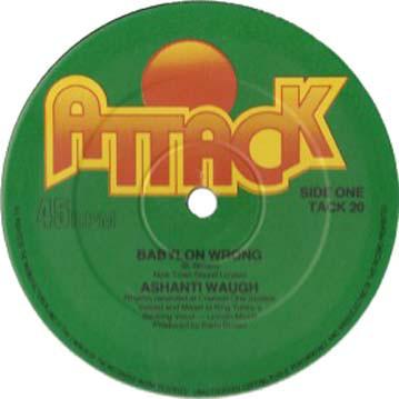 Ashanti Waugh / Barry Brown Babylon Wrong / Cool Pon Your Corner Vinyl