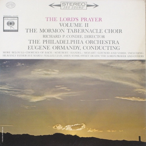 Mormon Tabernacle Choir / Eugene Ormandy The Lord's Prayer Vinyl