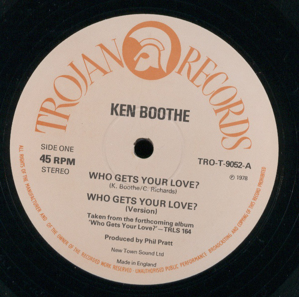 Ken Boothe Who Gets Your Love ? / Is It Because I'm Black ? Vinyl