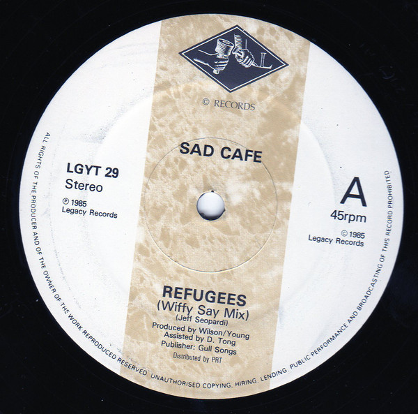 Sad Cafe Refugees Vinyl