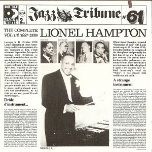 Hampton, Lionel The Complete Lionel Hampton Vol. 1/2 (1937-1938)