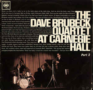 Brubeck, Dave The Dave Brubeck Quartet At Carnegie Hall Part 2