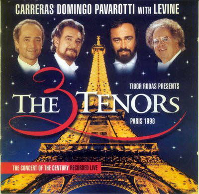 Carreras, Domingo, Pavarotti With Levine The Three Tenors In Paris