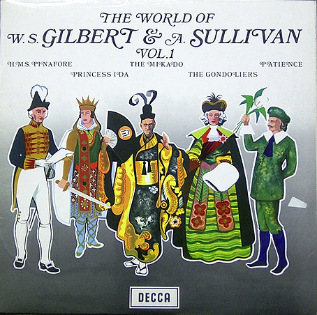 Gilbert & Sullivan The World Of W. S. Gilbert & A.Sullivan Vol.1 Vinyl