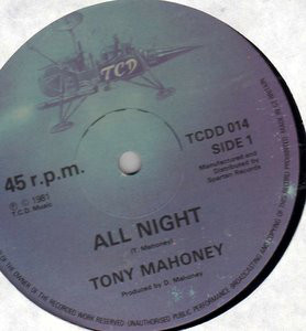 Tony Mahoney All Night Vinyl