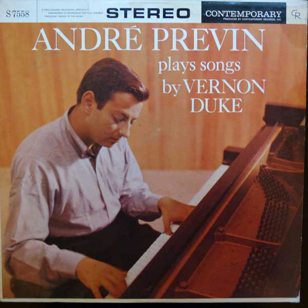 André Previn André Previn Plays Songs By Vernon Duke Vinyl