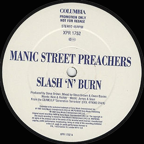 Manic Street Preachers Slash 'N' Burn