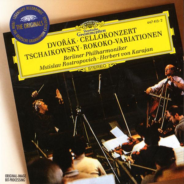 Dvorak / Tchaikovsky - Mstislav Rostropovich, Herbert von Karajan Cellokonzert / Rokoko-Variationen Vinyl