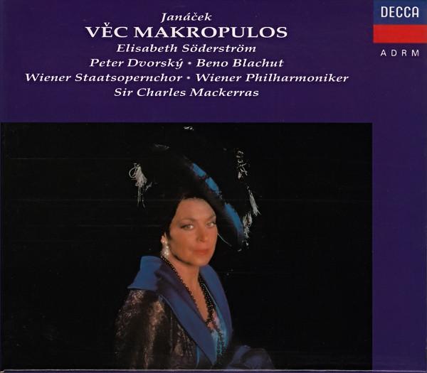 Janacek - Elisabeth Söderström, Peter Dvorský, Beno Blachut, Wiener Staatsopernchor, Wiener Philharmoniker, Sir Charles Mackerras Vec Makropulos CD