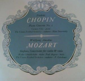 Chopin / Mozart - Carmen Vitos, Hans Swarowsky, Walter Schneiderhahn, Paul Angerer, F. Litschauer Piano Concerto No. 2 / Sinfonia Concertante for Violin & Viola