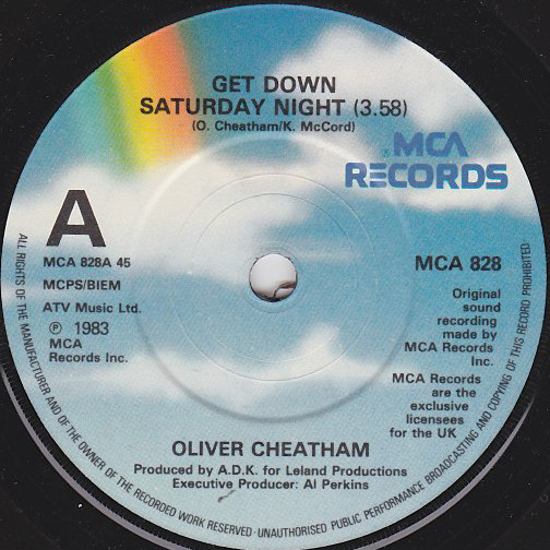 Oliver Cheatham Get Down Saturday Night / Something About You Vinyl