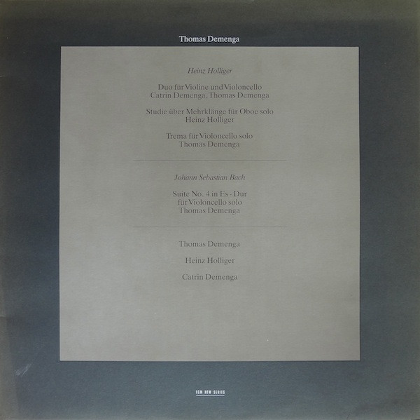 Hollinger / Bach - Thomas Demenga Thomas Demenga Vinyl