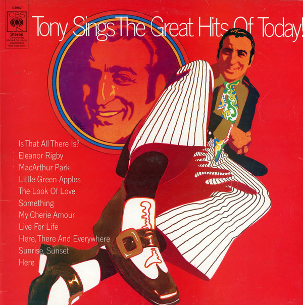 Bennett, Tony Tony Sings The Great Hits Of Today! Vinyl
