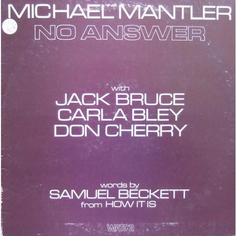 Mantler, Michael No Answer Vinyl