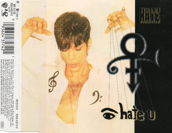 The Artist (Formerly Known As Prince) I Hate U CD