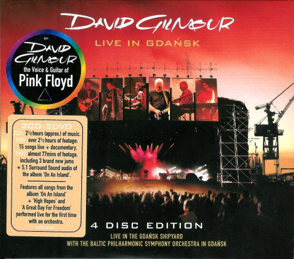 Gilmour, David Live In Gdansk Vinyl