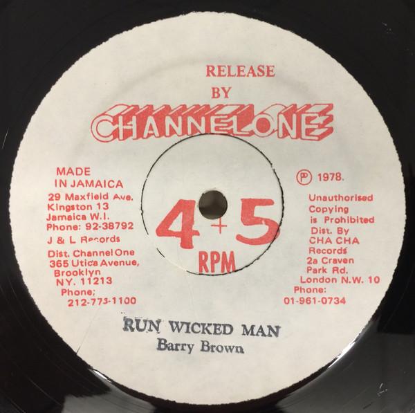 Barry Brown Run Wicked Man/Far East Vinyl