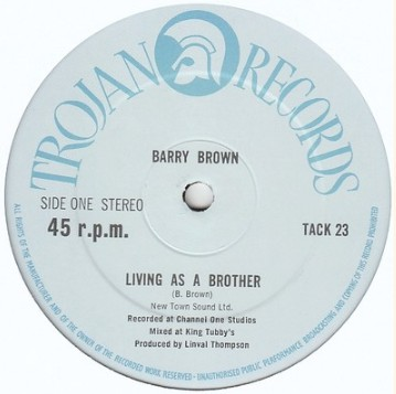 Barry Brown Living As A Brother Vinyl