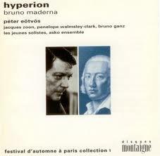 Maderna - Peter Eotvos, Zoon, Walmsley-Clark, Ganz, Solistes, Asko Ensemble Hyperion CD