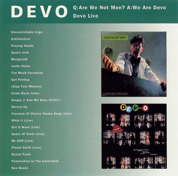 Devo Q: Are We Not Men? A: We Are Devo - Devo Live CD