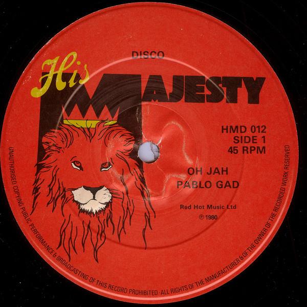 Pablo Gad Oh Jah Vinyl