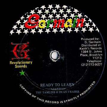 Tamlins* & Dean Fraser Ready To Learn Vinyl