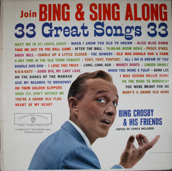 Crosby, Bing Join Bing & Sing Along