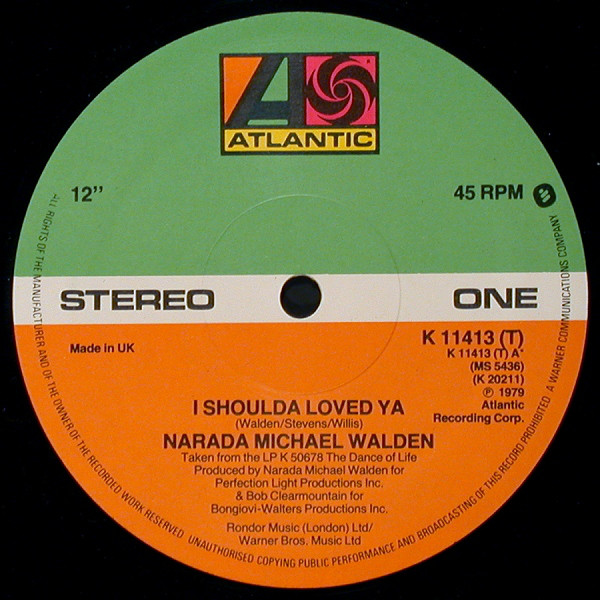 Narada Michael Walden I Shoulda Loved Ya Vinyl