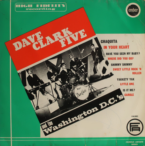 Dave Clark Five Dave Clark Five And The Washington D.C.'s Vinyl