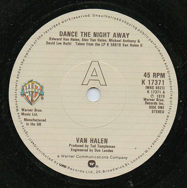 Van Halen Dance The Night Away Vinyl