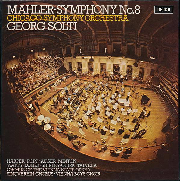 Mahler - Georg Solti, Harper, Popp, Auger, Minton, Watts, Kollo, Shirley-Quirk, Talvela Symphony No.8 Vinyl