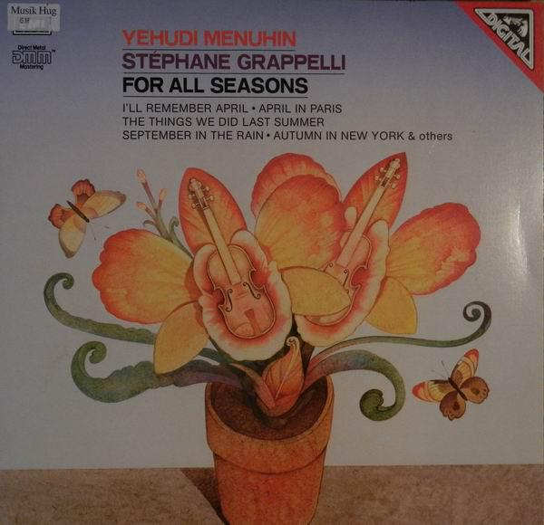 Yehudi Menuhin, Stéphane Grappelli For All Seasons Vinyl