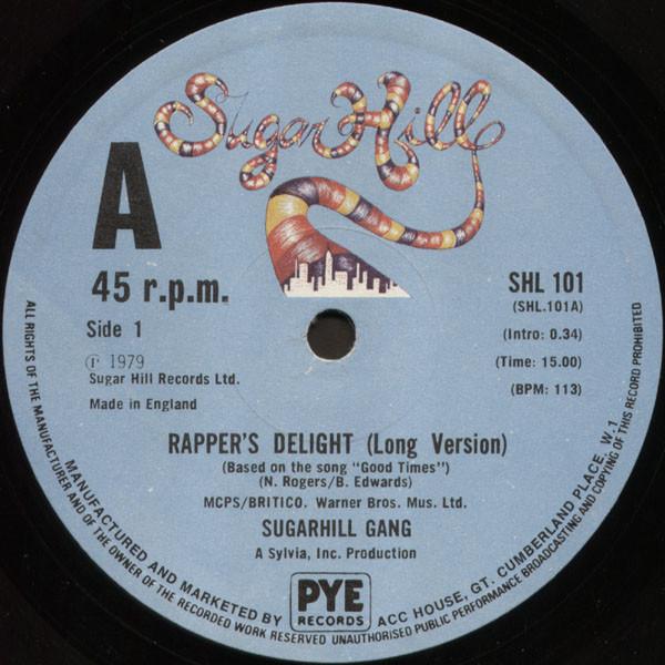 Sugarhill Gang Rapper's Delight Vinyl