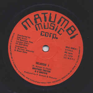 Brother Trevor And U Brown Selassie I / Skip Away Vinyl