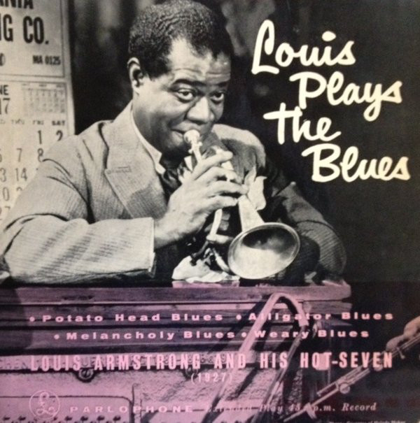 Armstrong, Louis And His Hot Seven Louis Plays The Blues Vinyl