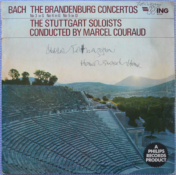 Bach - The Stuggart Soloists, Marcel Couraud The Brandenburg Concertos Vinyl