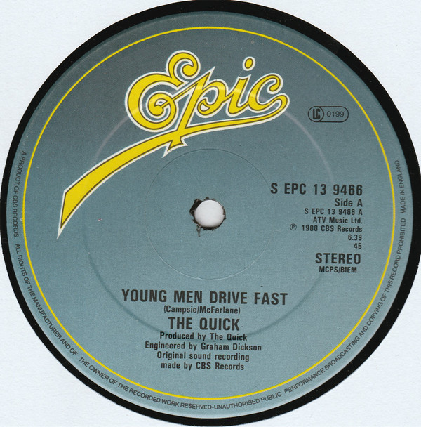 The Quick Young Men Drive Fast Vinyl