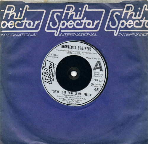 Righteous Brothers / The Righteous Brothers Band You've Lost That Lovin' Feeling / Rat Race