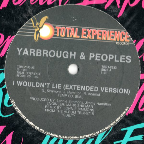 Yarbrough & Peoples I Wouldn't Lie