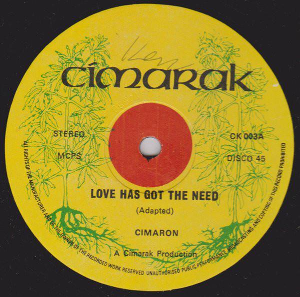 Cimaron Love Has Got The Need Vinyl