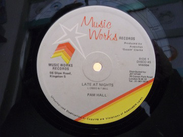 Pam Hall Late At Nights Label: Music Works Records –  Vinyl