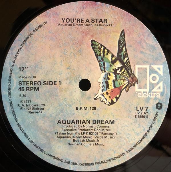 Aquarian Dream You're A Star Vinyl