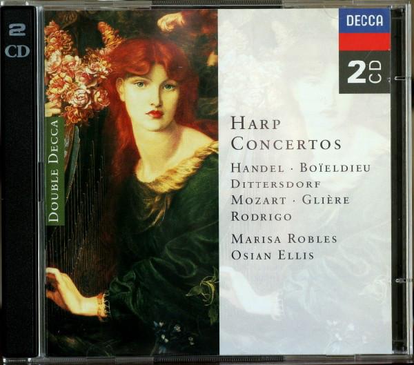 Händel, Boïeldieu, Dittersdorf, Mozart, Glière, Rodrigo, Marisa Robles, Osian Ellis Harp Concertos